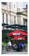 Bryant Park At Noon Beach Towel by Dora Sofia Caputo Photographic Art and Design