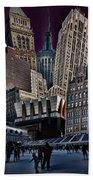 Bryant Park Collage Beach Towel