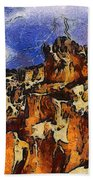 Bryce Canyon Thuderstorm Beach Towel