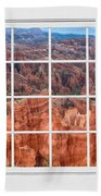 Bryce Canyon White Picture Window View Beach Towel