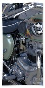 Bsa Motorcycle Beach Towel