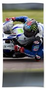 Bsb Superbike Rider John Hopkins Beach Towel