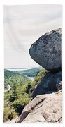 Bubble Rock Acadia National Park Maine Beach Towel