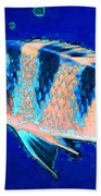 Bubbles - Fish Art By Sharon Cummings Beach Towel