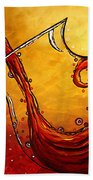 Bubbling Joy Original Madart Painting Beach Towel