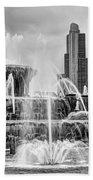 Buckingham Fountain - 1 Bw Beach Towel