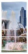 Buckingham Fountain #1 Beach Towel