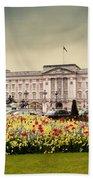 Buckingham Palace In London Uk Beach Sheet
