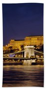 Buda Castle And Chain Bridge Beach Towel