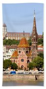 Buda Reformed Church In Budapest Beach Towel