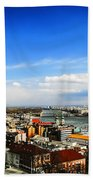 Budapest And Blue Danube Beach Towel