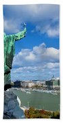 Budapest. View From Gellert Hill Beach Towel by Michal Bednarek