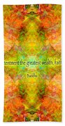 Budda Quote On Life Beach Towel