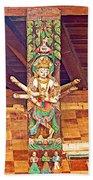 Buddha Image In Patan Durbar Square In Lalitpur-nepal   Beach Towel