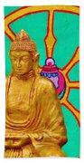 Buddha In The Grove Beach Towel