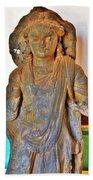 Ancient Buddha Statue - Albert Hall - Jaipur India Beach Towel