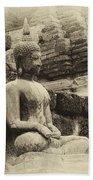 Buddha Sukhothai Thailand 5 Beach Towel