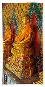 Buddhas At Wat Arun, Bangkok Beach Towel