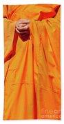 Buddhist Monk 02 Beach Towel