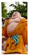 Buddhist Monk On Journey Haw Par Villas Singapore Beach Towel