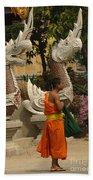 Buddhist Monk Thailand 3 Beach Towel