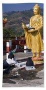 Buddhist Statues Beach Towel