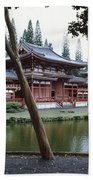 Buddhist Temple, Byodo-in Temple Beach Towel