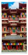 Buddhist Temple In Singapore Beach Towel