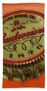 Budweiser Cap Beach Towel