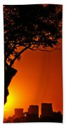 Buenos Aires At Sunset Beach Towel