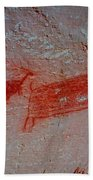 Buffalo And Elk Cave Painting Beach Towel