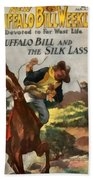 Buffalo Bill And The Silk Lasso Beach Towel by Dime Novel Collection