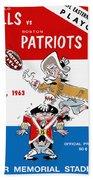 Buffalo Bills 1963 Playoff Program Beach Towel