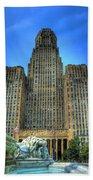Buffalo City Hall Beach Towel by Tammy Wetzel