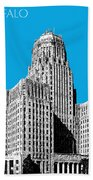 Buffalo New York Skyline 1 - Ice Blue Beach Towel