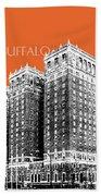 Buffalo New York Skyline 2 - Coral Beach Towel