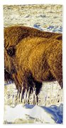 Buffalo Painting Beach Towel