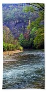 Buffalo River Downstream Beach Towel