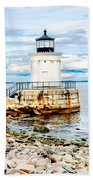Bug Light Study Beach Towel