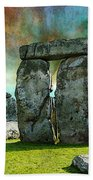 Building A Mystery - Stonehenge Art By Sharon Cummings Beach Towel
