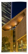 Buildings And Architecture Around Mint Museum In Charlotte North Beach Towel