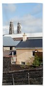 Buildings In A Town, Mullingar, County Beach Towel