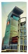 Buildings In Shanghai Beach Sheet