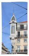 Buildings In The Chiado Neighbourhood Of Lisbon Beach Towel