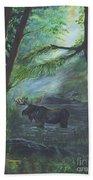 Bull Moose Pond Beach Towel