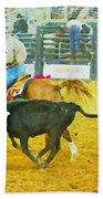 Bulldoggin Cowboys Beach Towel