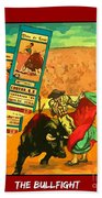 Bullfight Poster Beach Towel