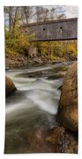Bulls Bridge Autumn Square Beach Towel