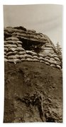 Bunker Above The Dak Poko River Near Dak To Kontum Province Vietnam 1968 Beach Towel