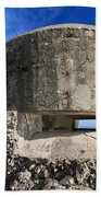 Bunker Over The Sea Beach Towel